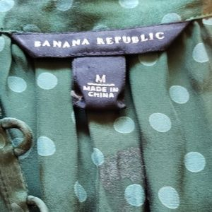 BANANA REPUBLIC Silk Polka Dot Blouse - M